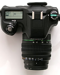 top view of Pentax