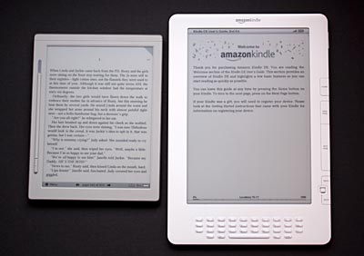 IREX DR800 and Kindle DX