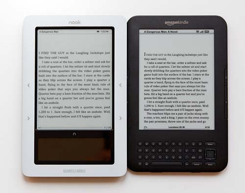 nook and kindle 3