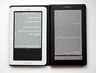 nook and Sony Reader Daily Edition