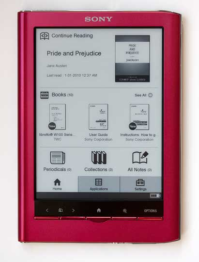 Kindle Vs Sony Reader: Sony Reader PRS-650 Touch Edition