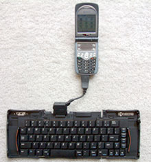 Stowaway keyboard for Kyocera 7135