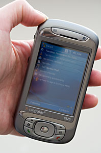 cingular 8525 and htc tytn windows mobile pda phone and smartphone rh mobiletechreview com HTC Touch HD HTC TyTN Ll
