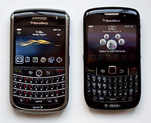 BlackBerry Curve 8520 and BlackBerry Tour
