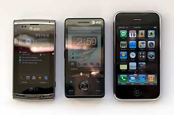 LG Incite, HTC Fuze and iPhone 3G