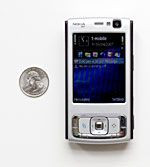 Nokia N95 and US quarter