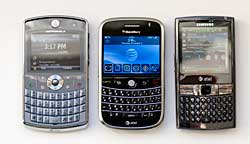 BlackBerry Bold, Samsung Epix and Moto Q9