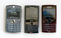 Samsung Epix, BlackJack II and Motorola Q9