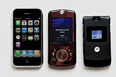 Motorola Z9, iPhone and RAZR