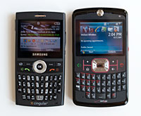 Motorola Q 9m and samsung blackjack