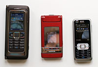 Nokia 6120 size comparison