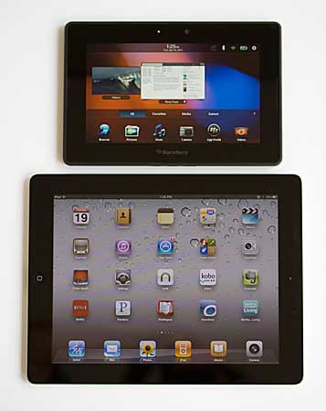 BlackBerry PlayBook and iPad 2
