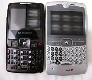 Samsung i320 and Motorola Q