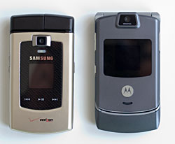 RAZR and Samsung u740