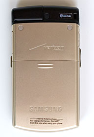 back of samsung u740