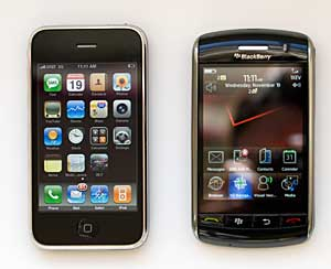 BlackBerry Storm and iPhone 3G