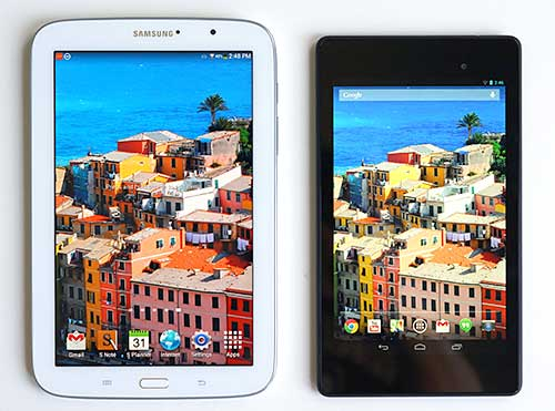 Nexus 7 and Galaxy Note 8