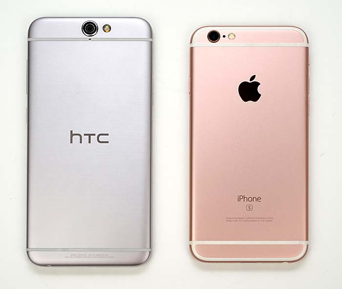 HTC One A9 and iPhone 6s